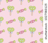 seamless baby pattern with... | Shutterstock .eps vector #1027583125