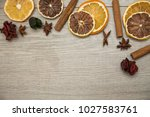 spices for winter food and... | Shutterstock . vector #1027583761