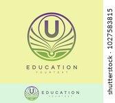 education initial letter u logo ... | Shutterstock .eps vector #1027583815