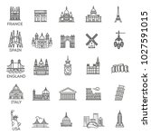 simple linear vector icon set... | Shutterstock .eps vector #1027591015