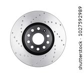 brake disc isolated on white  | Shutterstock . vector #1027592989