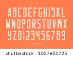 stencil alphabet letters and... | Shutterstock .eps vector #1027601725