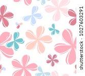 flowers seamless background.... | Shutterstock .eps vector #1027603291