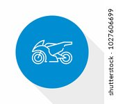 motorcycle icon vector | Shutterstock .eps vector #1027606699