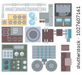 industrial buildings elements   ... | Shutterstock .eps vector #1027607161