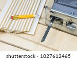 carpentry tools on a wooden