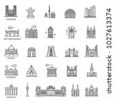 simple linear vector icon set... | Shutterstock .eps vector #1027613374