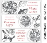 banner menu of an italian... | Shutterstock .eps vector #1027614157