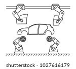 thin line style car assembly... | Shutterstock .eps vector #1027616179