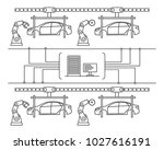thin line style car assembly... | Shutterstock .eps vector #1027616191