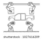 thin line style car assembly... | Shutterstock .eps vector #1027616209