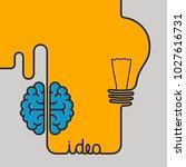 creative brainstorm concept... | Shutterstock .eps vector #1027616731