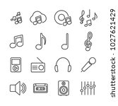 vector image set of music line...
