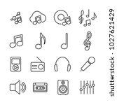 vector image set of music line... | Shutterstock .eps vector #1027621429
