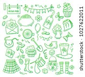 saint patricks day objects... | Shutterstock .eps vector #1027622011