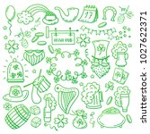 st. patrick s day icons set... | Shutterstock .eps vector #1027622371