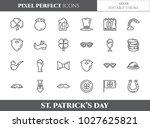 st. patrick's day theme pixel... | Shutterstock .eps vector #1027625821