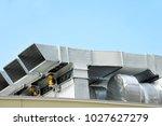 industrial steel air... | Shutterstock . vector #1027627279