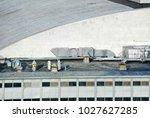 industrial steel air... | Shutterstock . vector #1027627285