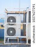 industrial steel air... | Shutterstock . vector #1027627291