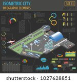 3d isometric airport and city... | Shutterstock .eps vector #1027628851