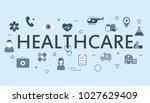 healthcare  medicine  medical... | Shutterstock .eps vector #1027629409