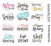 hello spring time vector... | Shutterstock .eps vector #1027629595