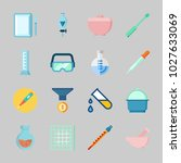 icons about laboratory with... | Shutterstock .eps vector #1027633069