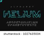 helium vector minimalist... | Shutterstock .eps vector #1027635034