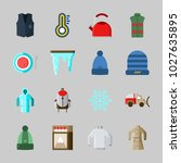 icons about winter with... | Shutterstock .eps vector #1027635895