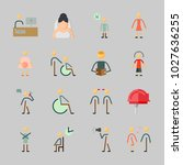 icons about human with female ... | Shutterstock .eps vector #1027636255