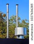 industrial steel air... | Shutterstock . vector #1027636285