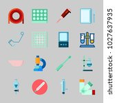 icons about laboratory with lab ... | Shutterstock .eps vector #1027637935