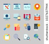 icons about seo with search ... | Shutterstock .eps vector #1027637944
