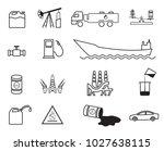 set of 15 line vector oil icons | Shutterstock .eps vector #1027638115