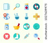 icons about medical with pills  ... | Shutterstock .eps vector #1027639975
