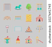 icons about amusement park with ... | Shutterstock .eps vector #1027641745