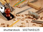 diy concept. woodworking and...   Shutterstock . vector #1027643125