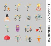 icons about human with kid ... | Shutterstock .eps vector #1027644445
