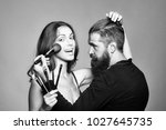 young couple of sexy woman with ... | Shutterstock . vector #1027645735