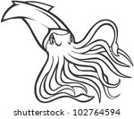 creative giant squid... | Shutterstock .eps vector #102764594