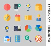 icons about business with... | Shutterstock .eps vector #1027646311