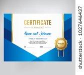 certificate design  stylish... | Shutterstock .eps vector #1027646437