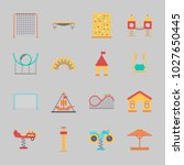 icons about amusement park with ... | Shutterstock .eps vector #1027650445