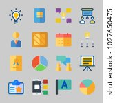 icons about business with pie... | Shutterstock .eps vector #1027650475