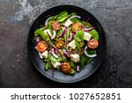 plate of nutritious simple... | Shutterstock . vector #1027652851