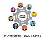 flat design illustration... | Shutterstock .eps vector #1027653451