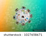 infograph background template... | Shutterstock .eps vector #1027658671