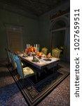 dinner setup in milan | Shutterstock . vector #1027659511