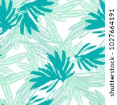 green tropical leaves tropical... | Shutterstock .eps vector #1027664191